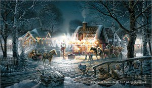 """Terry Redlin Signed and Numbered Limited Edition Master Canvas:""""Sweet Memories"""""""
