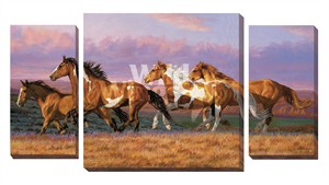 "Chris Cummings Gallery Wrapped Giclee Canvas Set:""Sunset Cruise – Horses"""