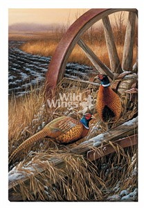 """Rosemary Millette Gallery Wrapped Canvas Giclee:""""Rustic Outlook – Pheasants (Canvas)"""""""