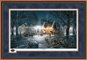 "Terry Redlin Holiday Framed (Walnut)  Holiday Limited Edition Print : ""Sweet Memories"""