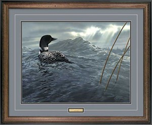 "Scot Storm Handsigned and Numbered Limited Edition: ""Framed Weather the Storm Limited Ed"""
