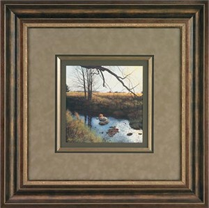 "Steven R. Kozar Handsigned and Numbered Limited Edition: ""Designer Framed Tranquil Whispers Print"""