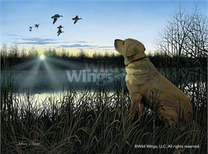 "Anthony Padgett Handsigned and Numbered Limited Edition Artist Proof: ""Diligence-Yellow Lab """