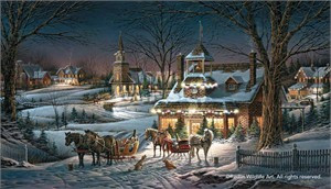 "Terry Redlin Holiday Limited Edition Holiday Print:""Evening Rehearsals"""