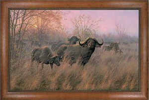 "Michael Sieve Handsigned and Numbered Limited Edition: ""Framed Malindi Morning Canvas"""