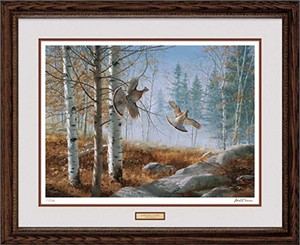 "David A. Maass Handsigned and Numbered Limited Edition: ""Framed, Remarqued Morning Double AP"""