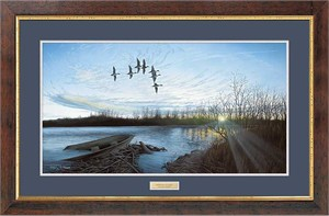 "Anthony J. Padgett Handsigned and Numbered Limited Edition: ""Framed Morning Retreat-Pintails"""