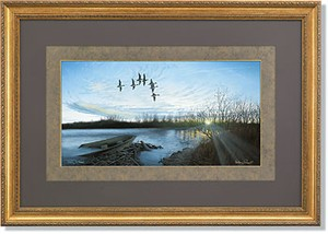 """Anthony J. Padgett Handsigned and Numbered Limited Edition: """"Designer Framed Morning Retreat-Pintails"""""""