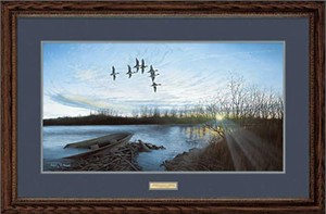 "Anthony J. Padgett Handsigned and Numbered Limited Edition: ""Framed Remarqued Morning Retreat"""