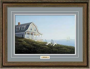 "Daniel Pollera Handsigned and Numbered Limited Edition: ""Framed Morning Sail"""