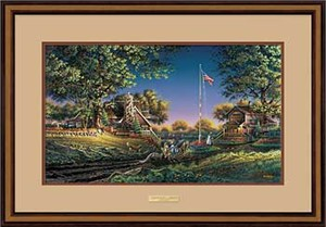 "Terry Redlin Elite Edition: ""Walnut Framed Good Morning America Elite"""