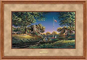 "Terry Redlin Open Edition: ""Deluxe Oak Framed Good Morning Elite"""