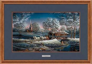 "Terry Redlin Open Edition: ""Oak Framed Morning Frost Elite"""