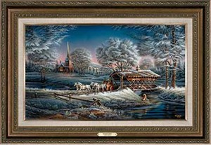"Terry Redlin Open Edition: ""Framed Morning Frost Encore Canvas"""