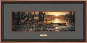 "Terry Redlin Open Edition: ""Walnut Framed Morning Glow Horizon"""