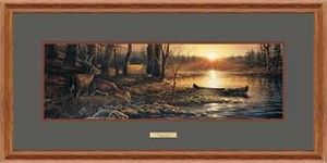 "Terry Redlin Open Edition: ""Oak Framed Morning Glow Horizon"""