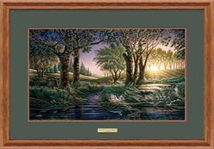 "Terry Redlin Open Edition: ""Oak Framed Morning on the Greens Elite"""