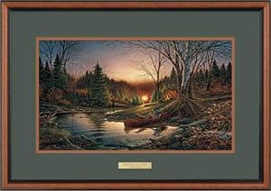 "Terry Redlin Open Edition: ""Dlx. Walnut Fr. Morning Solitude Encore"""