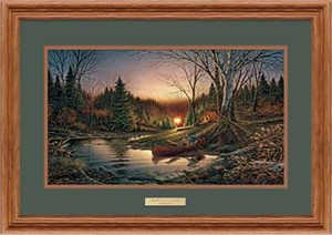 "Terry Redlin Open Edition: ""Oak Framed Morning Solitude Encore"""
