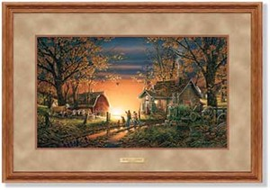 "Terry Redlin Open Edition: ""Dlx. Oak Framed Morning Surprise Elite"""