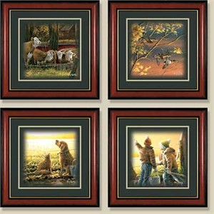 "Terry Redlin Open Edition: ""Framed Morning Surprise Comp. Print Set"""