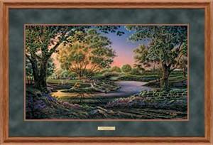 """Terry Redlin Open Edition: """"Deluxe Oak Framed Spring Morning Elite"""""""