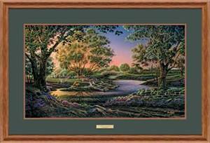 """Terry Redlin Open Edition: """"Oak Framed Spring Morning Elite"""""""