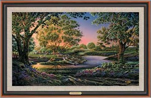 "Terry Redlin Handsigned and Numbered Limited Edition: ""Framed Spring Morning Master Canvas"""
