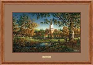 """Terry Redlin Fine Art Open Edition: """"Oak Framed Sunday Morning Elite"""""""