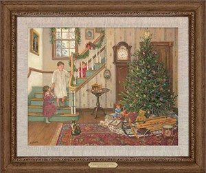 "Lee Stroncek Handsigned and Numbered Limited Edition: ""Framed Christmas Morning Canvas"""
