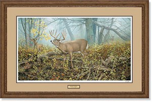 "Ron Van Gilder Handsigned and Numbered Limited Edition: ""Framed, Remarqued Monarch's Morning"""