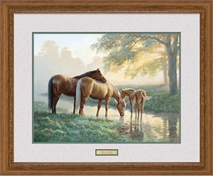 "Persis Clayton Weirs Handsigned and Numbered Limited Edition: ""Framed, Remarqued Spring Morning"""