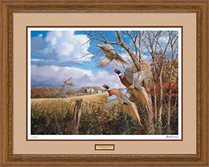 """David A. Maass Handsigned and Numbered Limited Edition: """"Framed October Memories Print"""""""