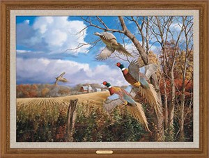"David A. Maass Handsigned and Numbered Limited Edition: ""Framed October Memories Canvas"""