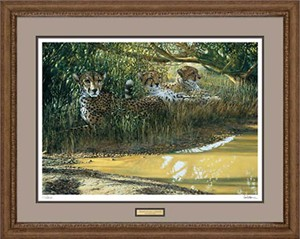 "Ron Van Gilder Handsigned and Numbered Limited Edition: ""Framed, Remarqued Beating the Heat"""