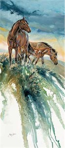 """Janene Grende Handsigned and Numbered Limited Edition:""""Wind in the Sage"""""""