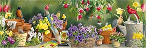 "Rosemary Millette Hand Signed & Number Limited Edition Artist Proof Print:""Garden Delights"""