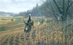 """Michael Sieve Hand Signed & Number Limited Edition Giclee on Canvas:""""Deer Country"""""""