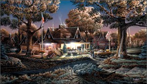 "Terry Redlin American Portrait Limited Edition: Heartfelt Firsts - ""His First Goodbye"""