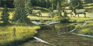 "Ron Van Gilder Limited Edition Print: ""Clear Creek Promenade"""