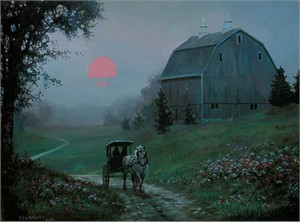 "Chris Cummings Handsigned and Numbered Limited Edition Print:""Evening In Spring"""