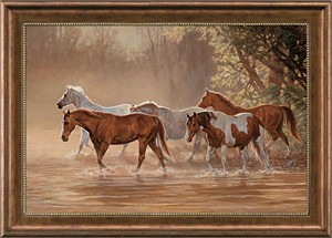 """Chris Cummings Handsigned and Numbered Limited Edition Oversized Framed Canvas:""""Misty Rivers"""""""