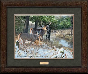 "Jim Kasper Open Edition Premium Framed Print: ""Bottomland Monarch-Whitetail Deer"""