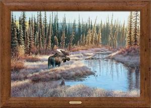 """Jim Kasper Handsigned and Numbered Limited Edition Oversized Framed Canvas:""""Lightscape-Moose """""""