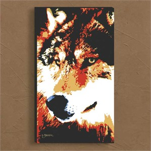 "Scot Storm Artist Enhanced Open Edition Gallery Wrap Canvas:""Wolf"""