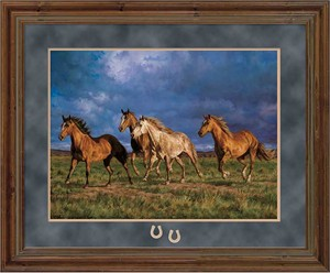 "Chris Cummings Open Edition Deluxe Framed Print:""Racing the Sun"""