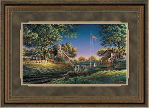 "Terry Redlin Elite Edition Premium Framed Print: ""Good Morning America"""