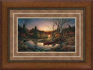 """Terry Redlin Elite Edition Premium Framed Print: """"Morning Solitude"""""""