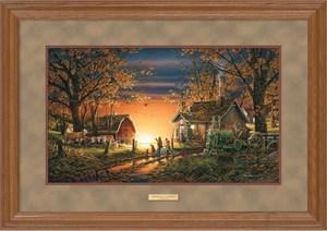 "Terry Redlin Elite Edition Premium Framed Print: ""Morning Suprise"""