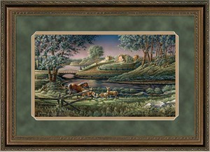 "Terry Redlin Elite Edition Premium Framed Print: ""Natural Curiosity"""